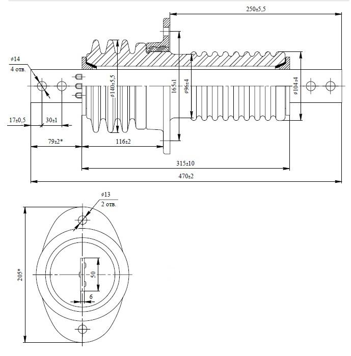 изолятор проходной ип 10 630